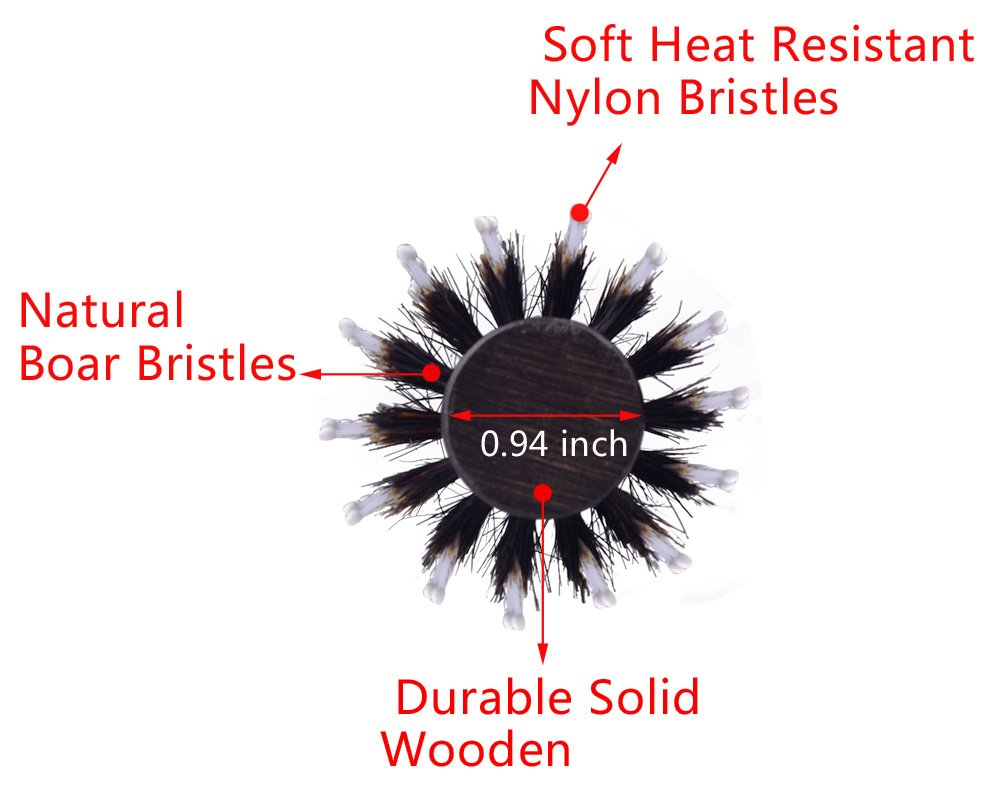 Boar Bristles Round Hair brush for Blow Drying Styling