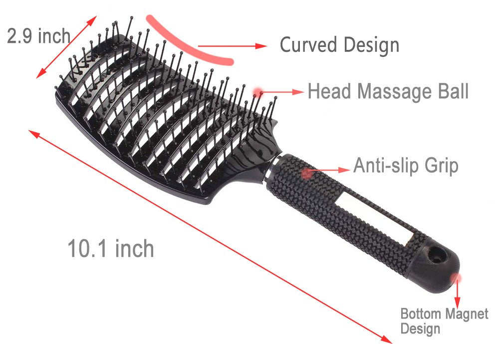 Curved Vented Styling Hair Brush