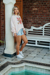 Alaska Tees Aneka Pink Sweater Tiger In Flowers Pre Order