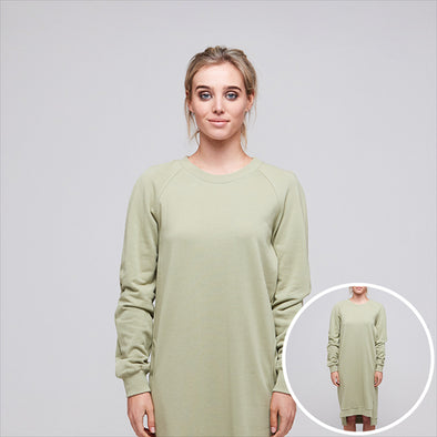 Alaska Tees Katy Dress Dusty Green