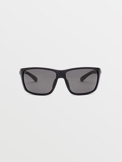 Volcom Roll Matte Black/Grey Sunglasses