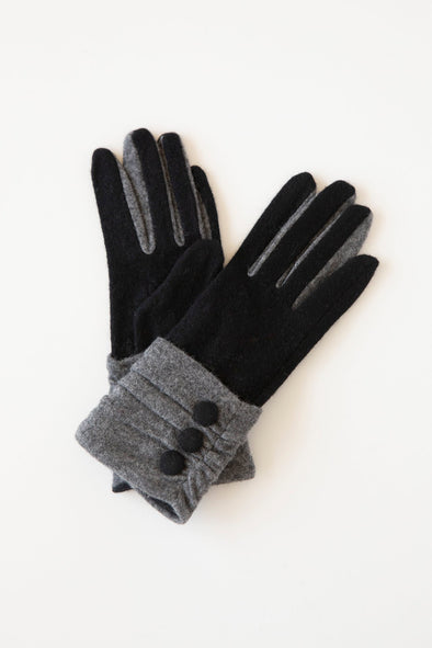 Antler Gloves Grey and Black