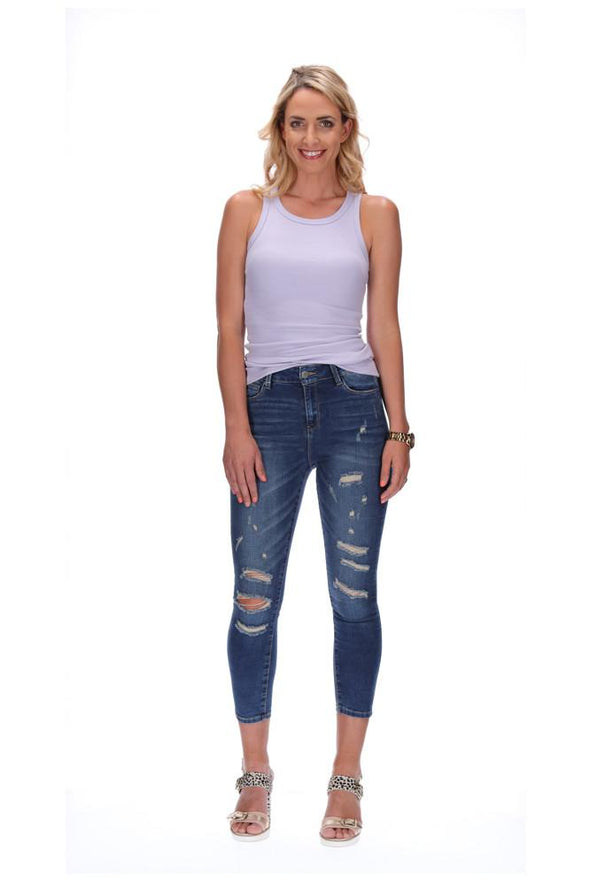 Honey Denim The Highwaisted Jean