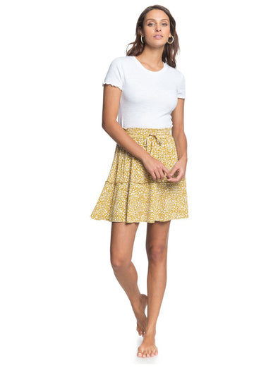 Roxy Glitter Lake Crinkle Skirt Olive Oil Lea