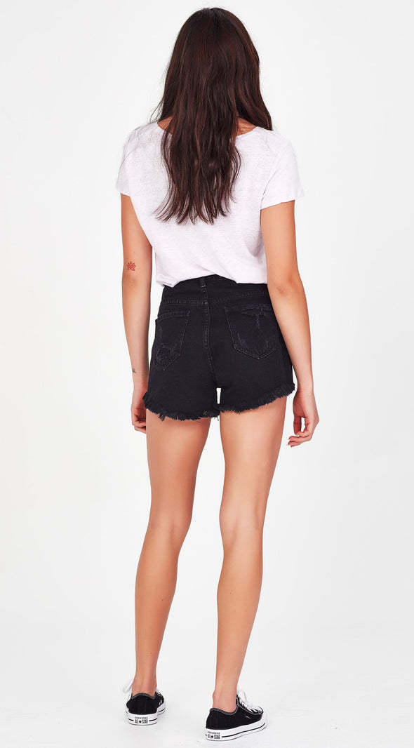 Junkfood Sofia Shorts Black