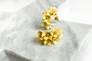 Flower Hoops Yellow