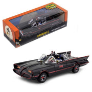 PreOrder DC Justice League 1966 Batmobile with Batman & Robin Bendable Action Figures