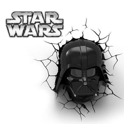Star Wars Darth Vador Head 3DFX Wall Night Light