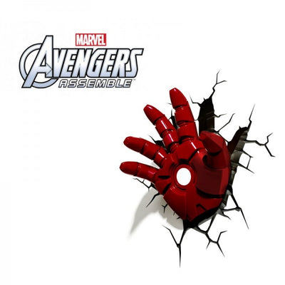 Marvel Avengers Iron Man Hand 3DFX Wall Night Light