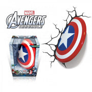 Pre Order Marvel Avengers Captain America Shield 3DFX Wall Night Light
