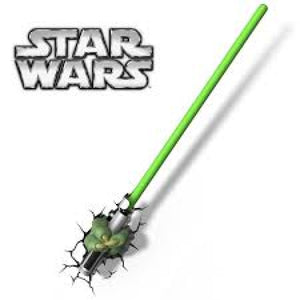Star Wars Master Yoda Hand with Lightsaber 3DFX Wall Night Light