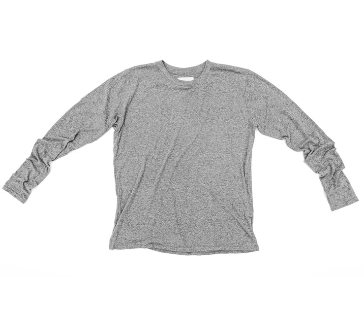 Long Sleeve Tee | Tri-Blend Grey