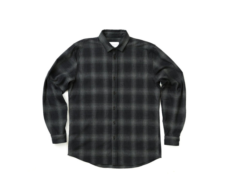 Flannel Button Down | Black/Grey