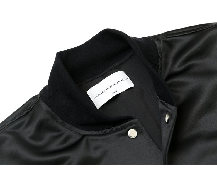 Satin Bomber | Black