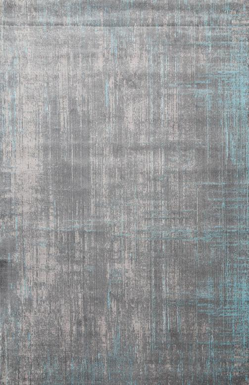 Eleanor Grey Blue Horizontal Vertical Washed Stripes