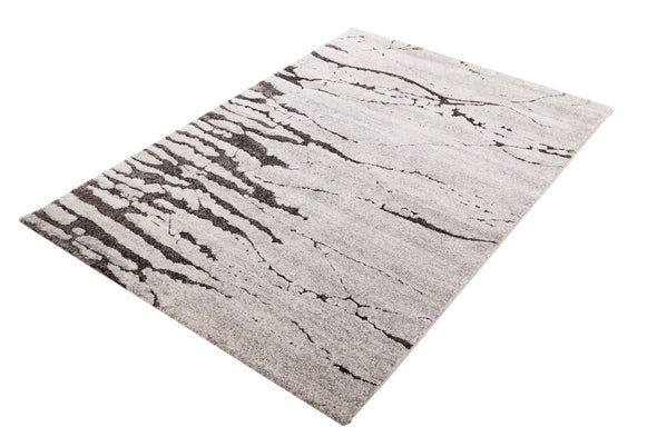 VEGAS Grey Classic Transitional Roman Rug