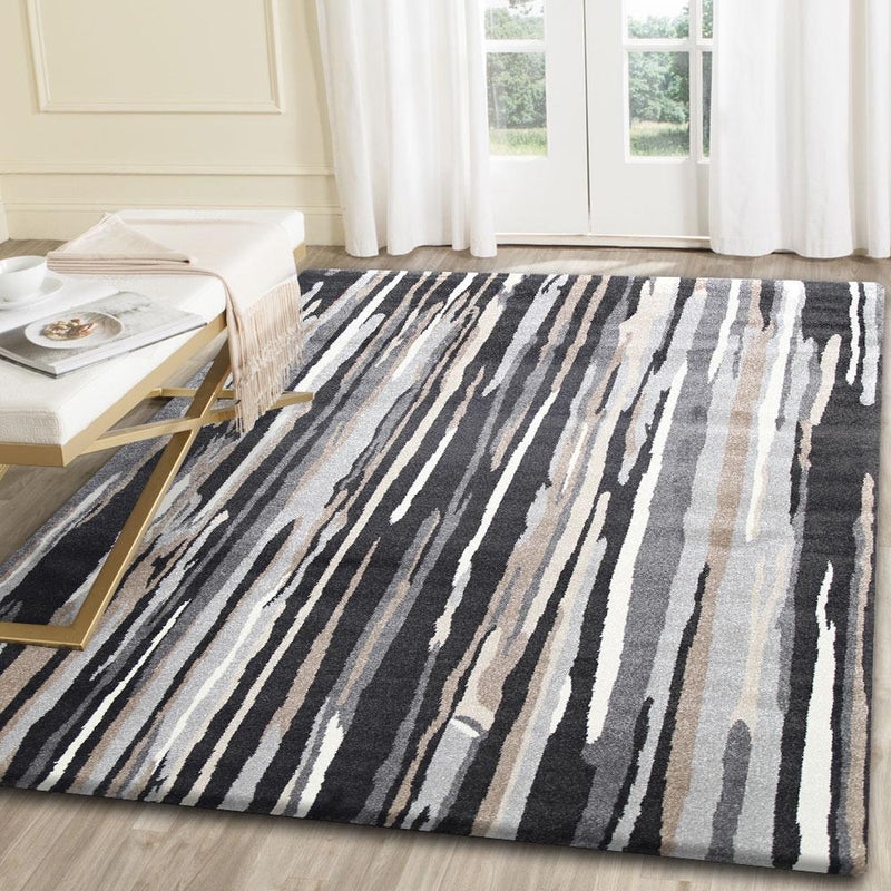 Morisot Dark Brown Vertical Stripes Rug