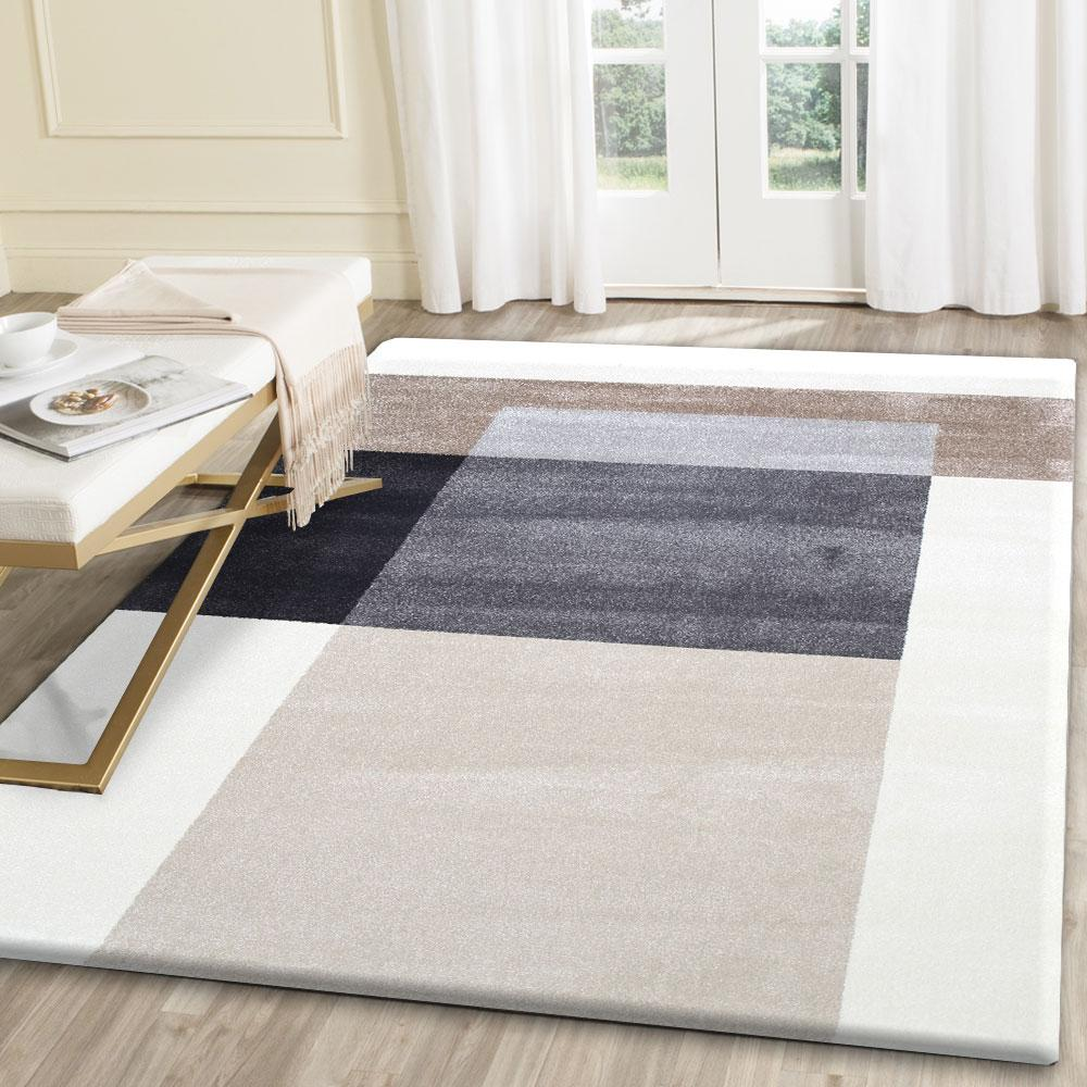Morisot Grey and Beige Cubism Rug