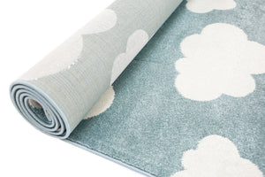 Piccolo  Aqua White Cloud Kids Rug
