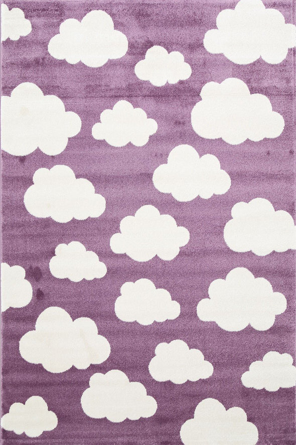 Piccolo  Pink and White Cloud Kids Rug