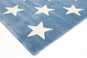 Piccolo  Blue and White Stars Kids Rug