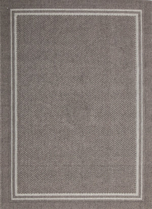 Hawaii Gray Bordered Rug