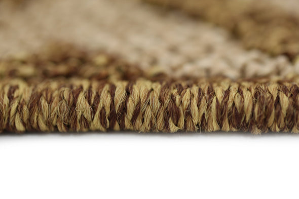 Cottage Brown Beige Diamond Shaped Rug
