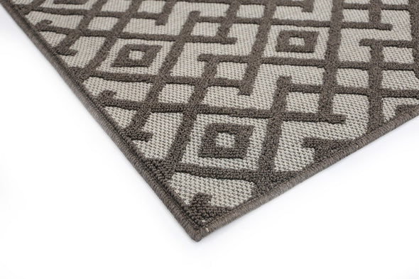 Hawaii Grey Diamond Shaped Rug