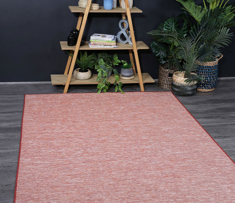 Sun Dance Orange Reversible Indoor Outdoor Rug