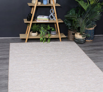 Sun Dance Grey and Brown Reversible Indoor Outdoor Rug