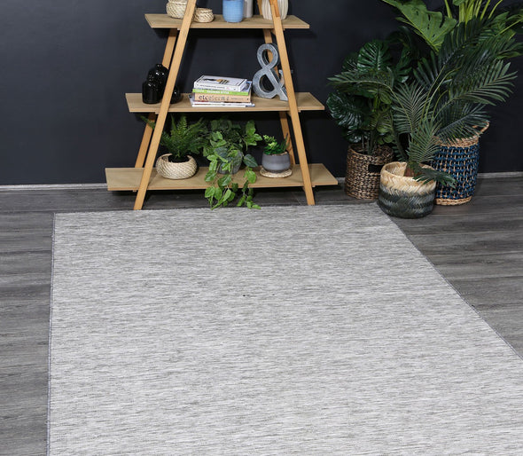 Sun Dance Grey Reversible Indoor Outdoor Rug