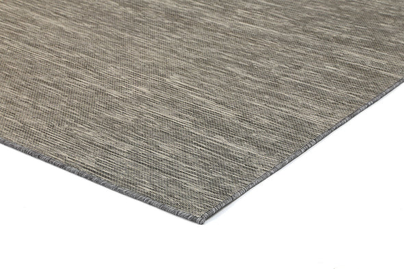 Sun Dance Grey and Black Reversible Indoor Outdoor Rug