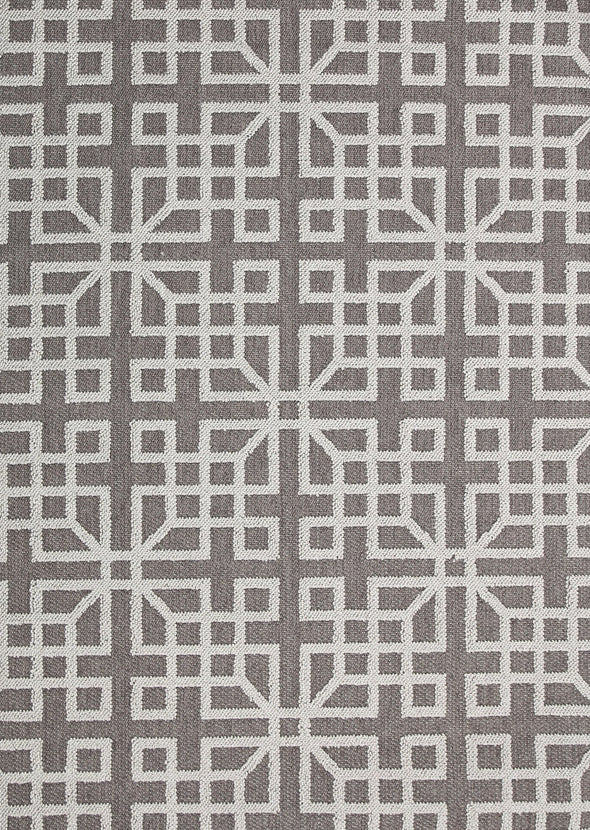 Cottage Grey Shape Patterned Ikat Rug