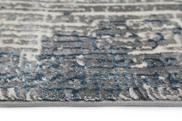 ELITE All Over Modern Beige Blue Blue Rug