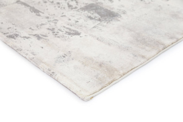 Alyssum Textured High Low Pile Modern Grey Beige Rug