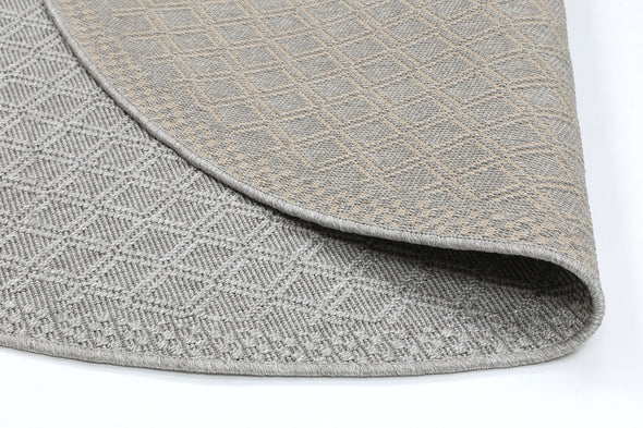 Sydney Light Grey Diamond Indoor Outdoor Rug