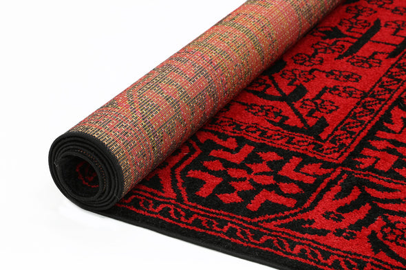 Tribe Red Traditional Afghan Rug