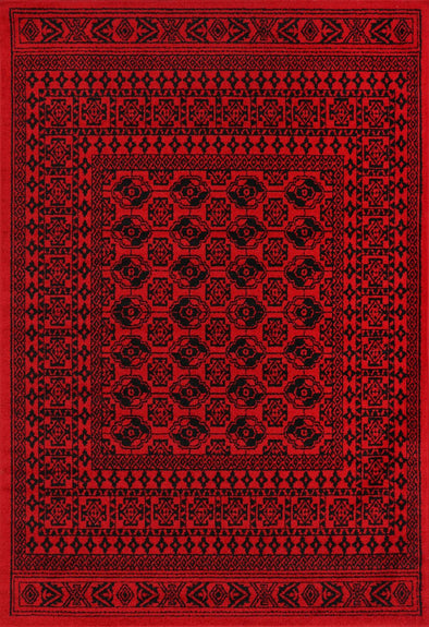 Tribe Traditional Afghan Red Rug