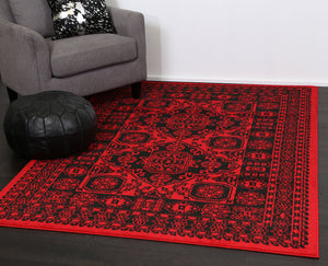 Tribe Afghan Traditional Red Rug