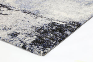 Vision Blue and Grey Abstract Modern Rug