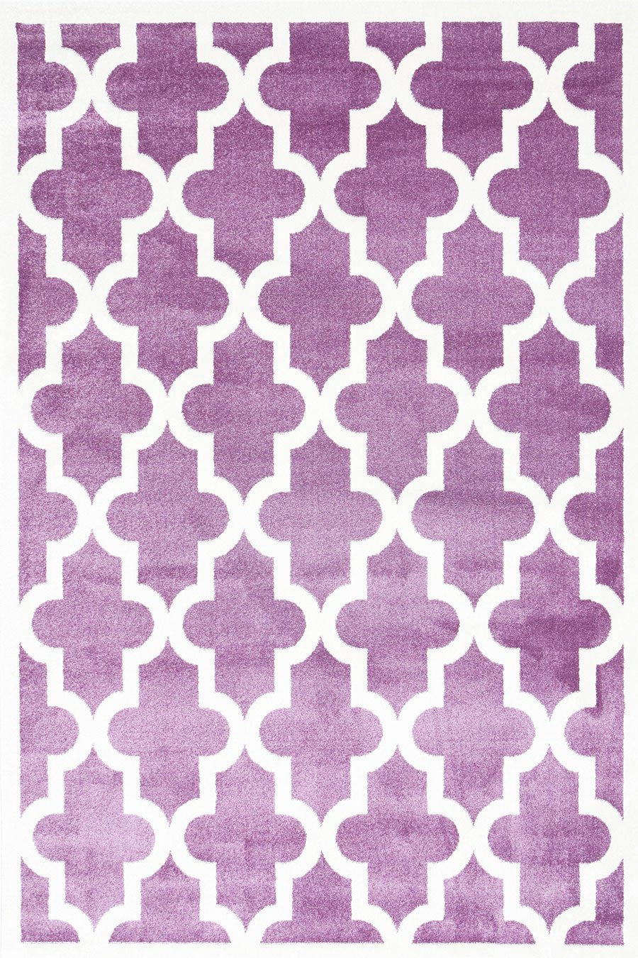 Piccolo Violet Pink and White Lattice Pattern Kids Rug