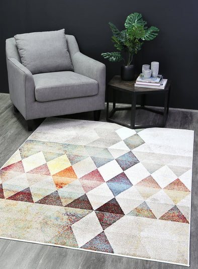 Madison Tribal Diamond Multi Rug