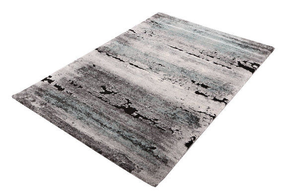 VEGAS Ultra Modern Distressed Blue Rug