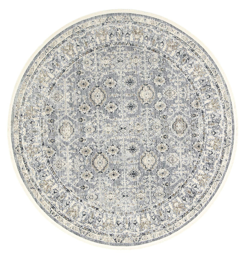 Istanbul Vintage Classic Aynur Blue Round Rug