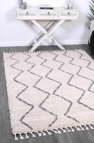 Serenity Levi Tribal Cream Rug