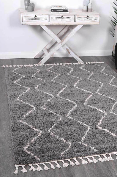 Serenity Levi Tribal Grey Rug