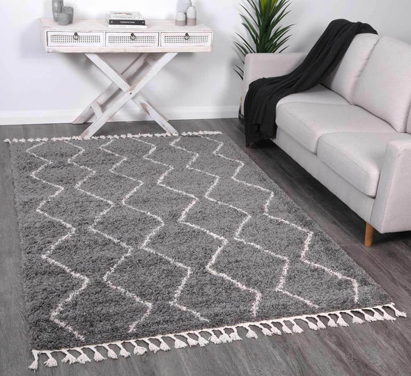 Kasbah Levi Tribal Grey Rug