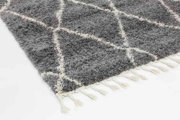 Kasbah Clara Diamond Tribal Grey Rug