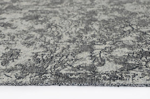 Bohemian Grey Distressed Boardered Rug