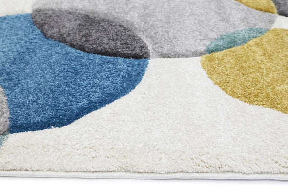 Essence Blue Circles and Pastels Rug